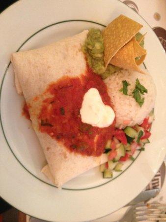 El Sol y La Luna : burrito végétarien pas épice parfait