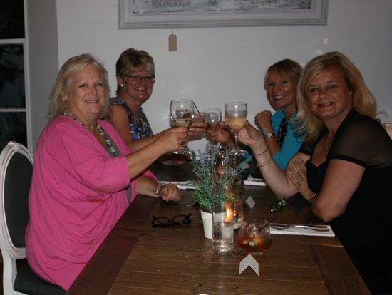 Falmouth Bay Seafood Café : enoying the celebrations