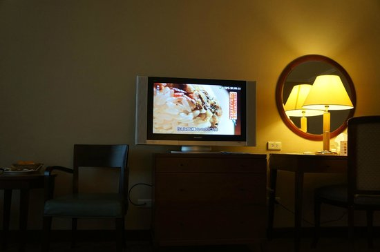 Le Midi Hotel : There is a separate area with another TV and good for kids to watch their own selection