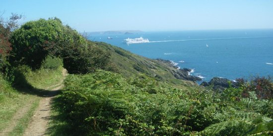 Rame, UK: Shipping coming in past Penlee Point