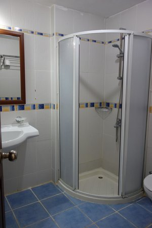 White Hotel: huge bathroom, very small shower cubicle