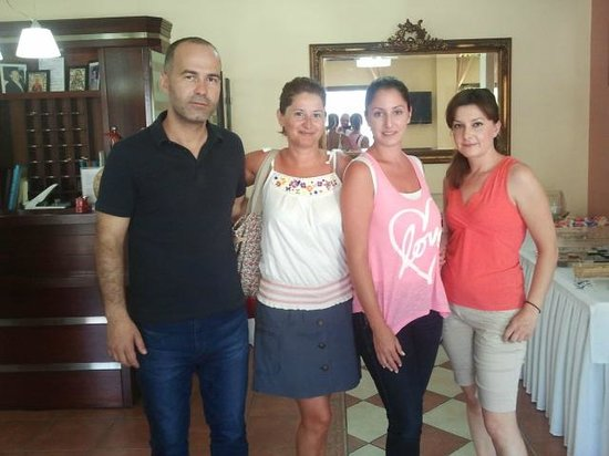 San Nectarios: The owner and his lovely staff