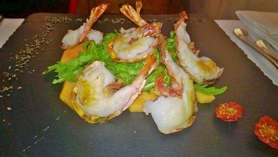 Ristorante della Carra: Ottimo piatto ,la cottura dei gamberoni era perfetta, un piatto perfetto per la stagione estiva