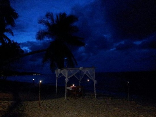 Mimosa Resort & Spa: Memorable dining experience on the beach...