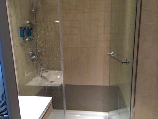 TITANIC Comfort Hotel Berlin Mitte : Spacious shower!