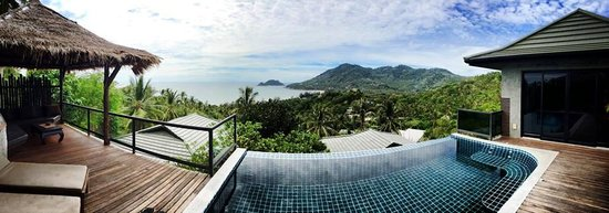 Koh Tao Heights Boutique Villas: pano of view