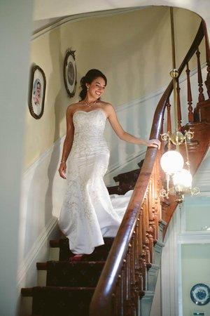 The Flagg Farmstead : Bride descending the staircase