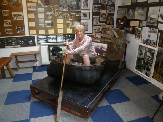 National Coracle Centre: me in my coracle