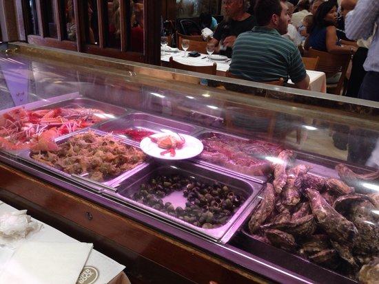 Cervejaria Ramiro: Marisco fresco. Os lagostins ainda estavam vivos.