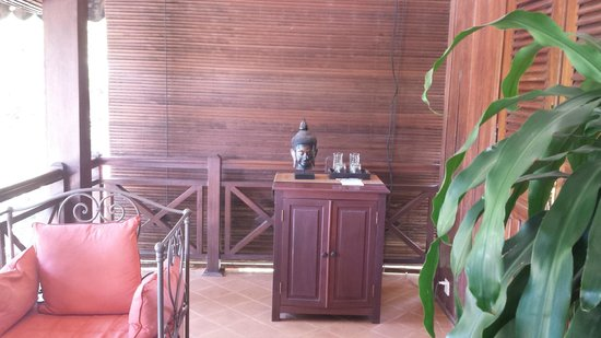 La Palmeraie d'Angkor: Il balcone della camera