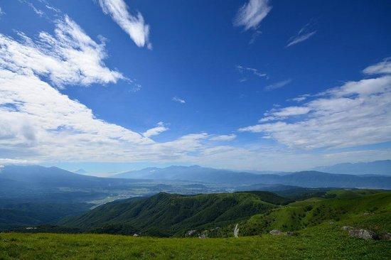Kurumayama Highland : 車山山頂より富士山と南アルプスを望む