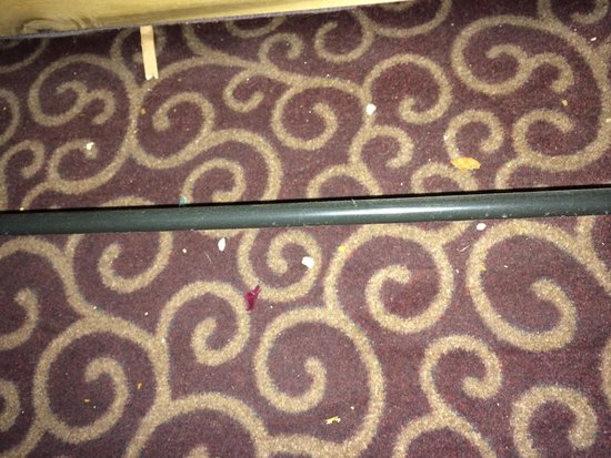 Hampton Inn Nanuet: Under the pull out couch