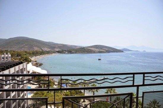 Tusan Beach Resort: Balkon manzarası.