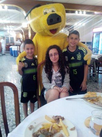 Hotel Marinada: en el comedor