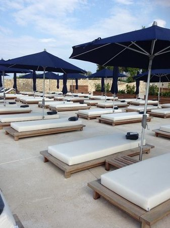 Hotel Monte Mulini: the new beach area