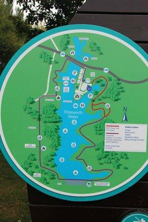 Meerbrook, UK: Map of reservoir and walks