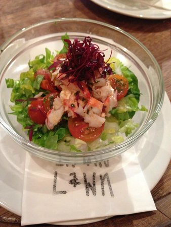Prawn on the Lawn : Tiny portion Lobster Salad