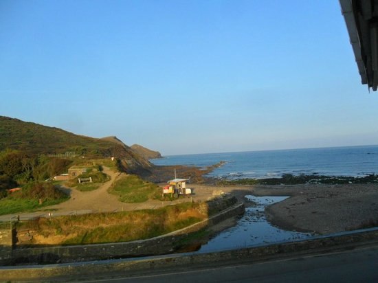 Coombe Barton Inn: the view we had from our room