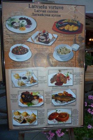 Salve : Mehrsprachige Speisekarte