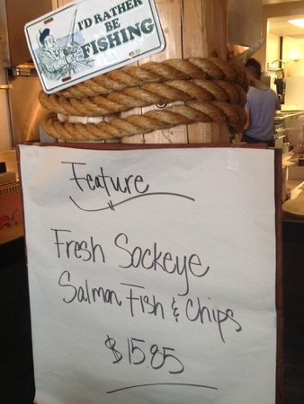 Chung's Fish & Chips: The special - fresh Sockeye & chips