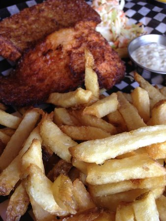 Chung's Fish & Chips: The order - delicious!