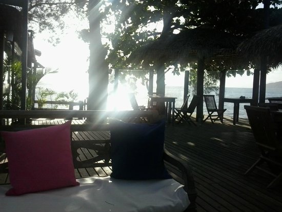 Pousada & Restaurante Praia da Tartaruga : Lounge to the   sunset