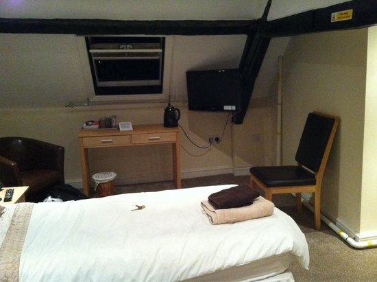The Castle Inn: Room 8. View from 2nd bed.