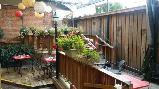 Captivating The Fireside Restaurant: 7 Level Back Patio