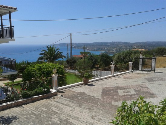 Aristomenis Studios: View from the pool across the bay