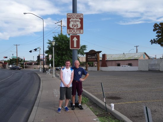 Old Route 66 >> Old Route 66 Sign Picture Of Albuquerque Old Town Albuquerque