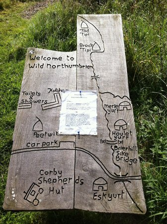 Wild Northumbrian Tipis and Yurts: Map of the site