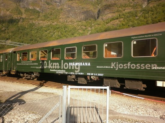 Fabulous The Cars Of The Flam Railway Are Somewhat Old Fashioned With Machost Co Dining Chair Design Ideas Machostcouk