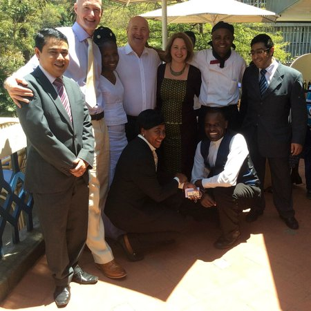 The Heron Portico: The Heron Team and Bride and Groom and Family