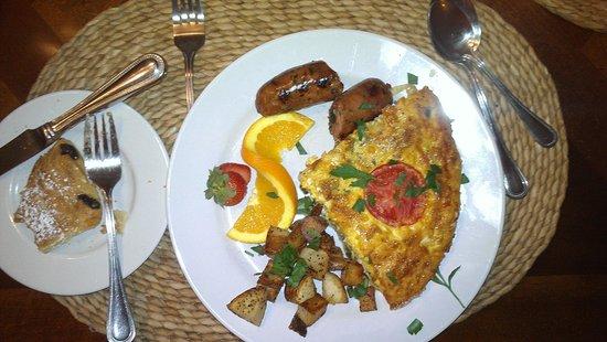 Santa Nella House Bed and Breakfast : Bob's Creative Fresh Egg Quiche