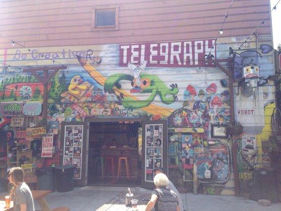 Wall Of The Telegraph Beer Garden In Oakland, CA.