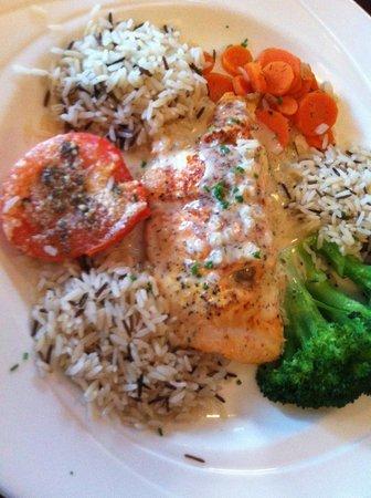 Hebel's Restaurant: Stuffed Salmon