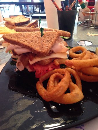 The Forklift Cafe: Turkey club with orings. Yum!!