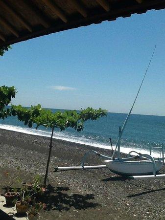Jemeluk Beach: View from Warung