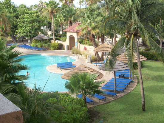 Divi Village Golf and Beach Resort: Our view of the pool