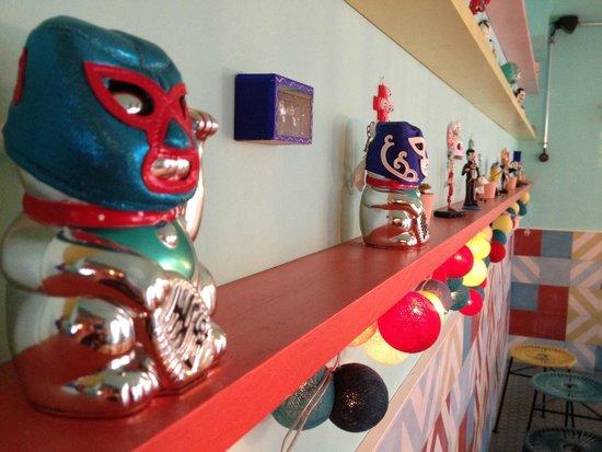 Some of the decor at La Taqueria