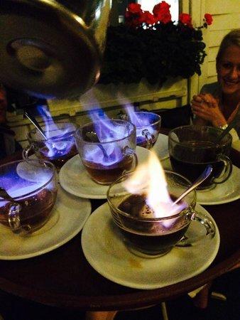 Casa Aurelio: Amazing flambé of brandy and coffe