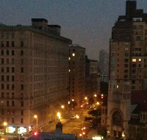The Lucerne Hotel: view from my window at 5:50 am, looking toward the river along 79th St.