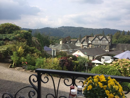 Angel Inn: View from the terrace