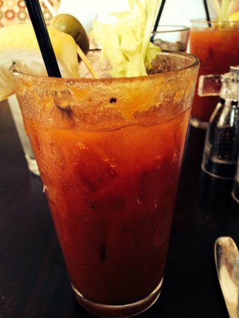 Stephi's on Tremont: Delicious Bloody Mary, made to order.
