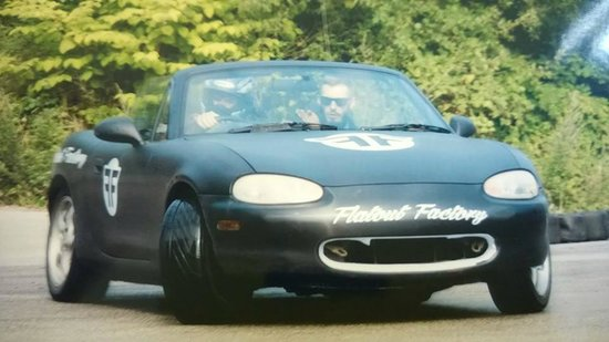 Flatout Factory: Me and Instructor Dan in one of my first session in the car
