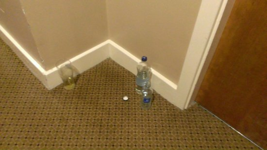 Radisson Blu Hotel, Dublin Airport: Bottle and glass left for 12 hours