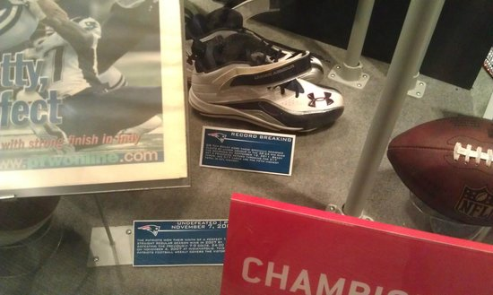 The Hall at Patriot Place : gronk's cleats