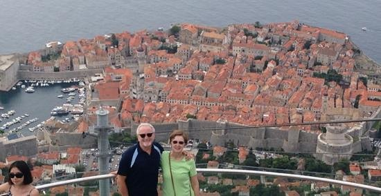Hotel Aquarius Dubrovnik: View of Dubrovnik from top of cable car