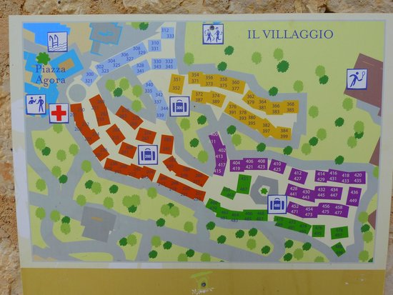 Plan du village picture of club med kamarina ragusa for Villaggio kamarina