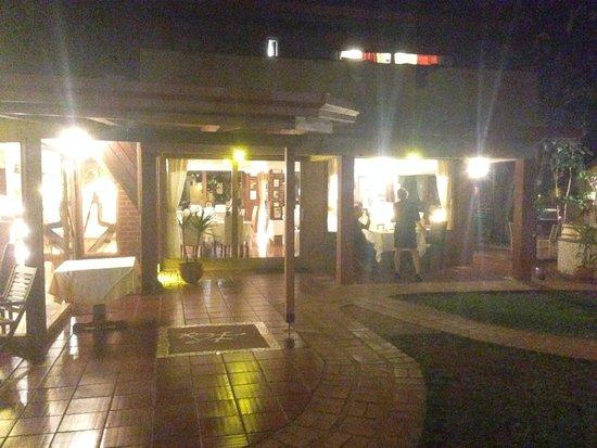 Boutique Hotel de la Fonte : Vista notturna del ristorante dell'hotel
